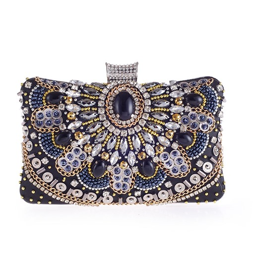 Delicate Handmade Beading Decoration Women Clutch