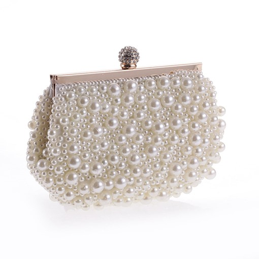 Delicate Beading Mini Banquet Clutch