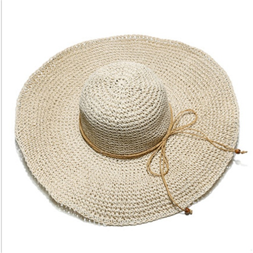 Pulldown Bowknot Beach Straw Hat