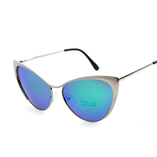 Cat's Eye Half Frame Sunglasses