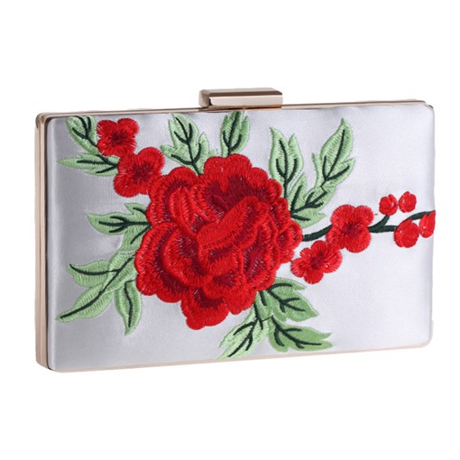 Classical Floral Embroidery Pattern Women Clutch