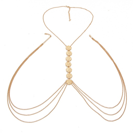 Alloy Sexy Popcorn Body Chain Necklace