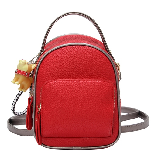 Chic Litchi Stria Women Backpack