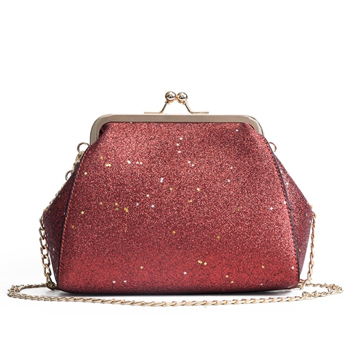 Trendy Sequins PU Chain Cross Body Bag