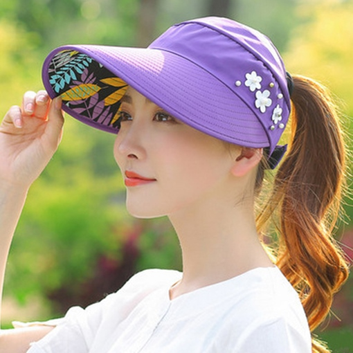 Breathability Imitation Pearl Sunshade Hats
