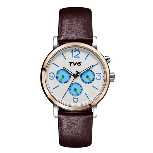 Three Eye Table Simulated Leather Strap Watches