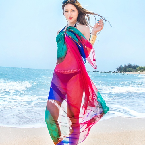 Lengthen Ink Painting Shawl Beach Scarf