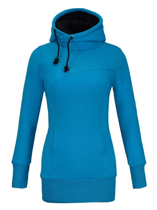 Eyeable Pure Color Women's Slim Hoodie