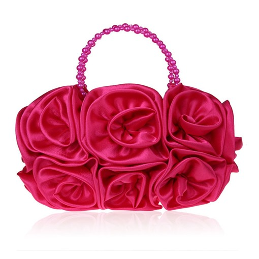 Velour Floral Decoration Women Clutch
