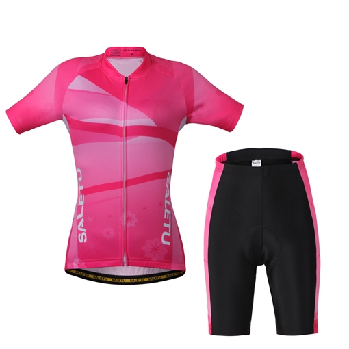 Breathable Comfortable Women's Outdoor Cycling Short Sleeve Suits