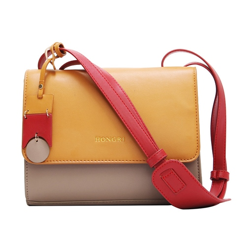 Occident Style Color Block Women Cross Body Bag