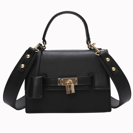 Modern Style Lock Decoration Kelly Crossbody Bag