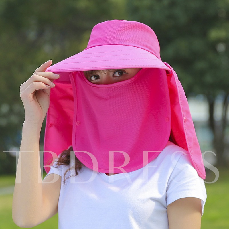 Outdoor Solid Color Sunshade Hats