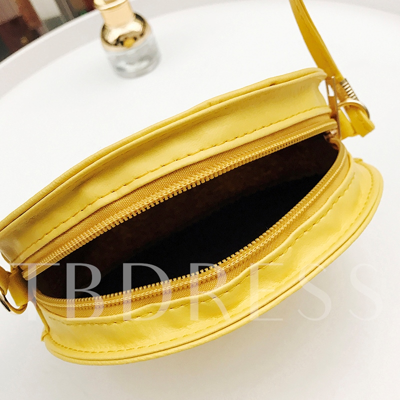 Circular Shape Mini PU Cross Body Bag