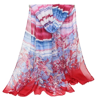 Voile Colorful Ethnic Style Scarfs