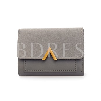 Color Block Magnetic Snap Wallet