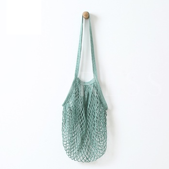 Solid Color Cotton Gauz Straw Bag