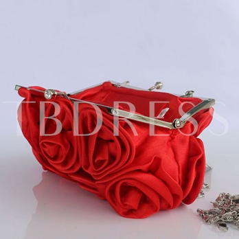 Fashionable Floral Adornment Women Clutch
