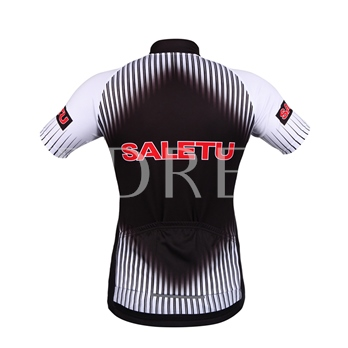 Stand Collar Letter Print Slim Men's Cycling Suit