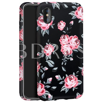 Phone Case Iphon X Case TPU Soft Shell Flower All-Inclusive
