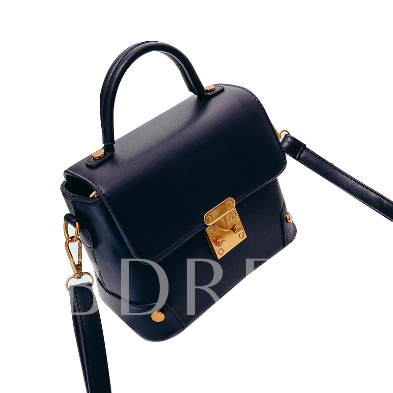 Korean Style Lock Decoration Women Crossbody Bag