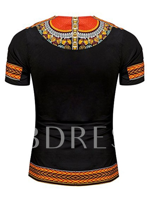 African Print Dashiki Slim Men's Short Sleeve T-Shirt
