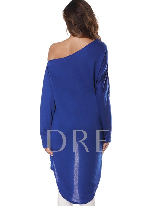 Asymmetric One Shoulder Off Wrapped Women's T-Shirts
