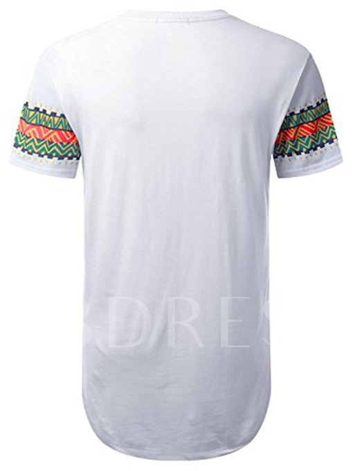 Dashiki Graphic Longline Slim Men's T-shirt