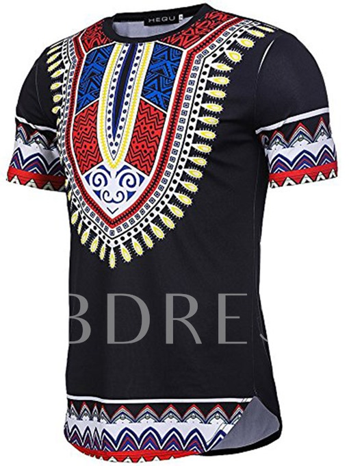 African Dashiki Graphic Short Sleeve Men's T-Shirt