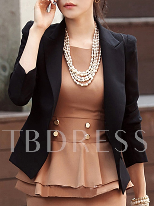 Slim Fit Open Front Jacket Women's Work Office Blazer