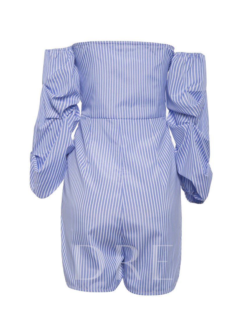 Backless Lace-Up Pleated Women's Rompers