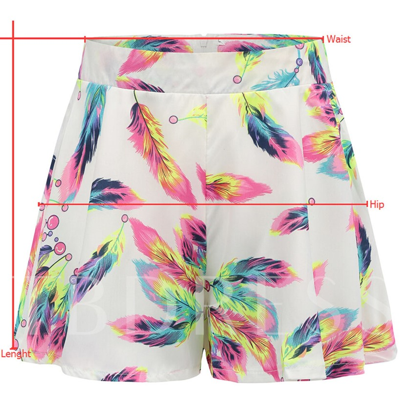 Floral Print Bellbottoms Women's Shorts