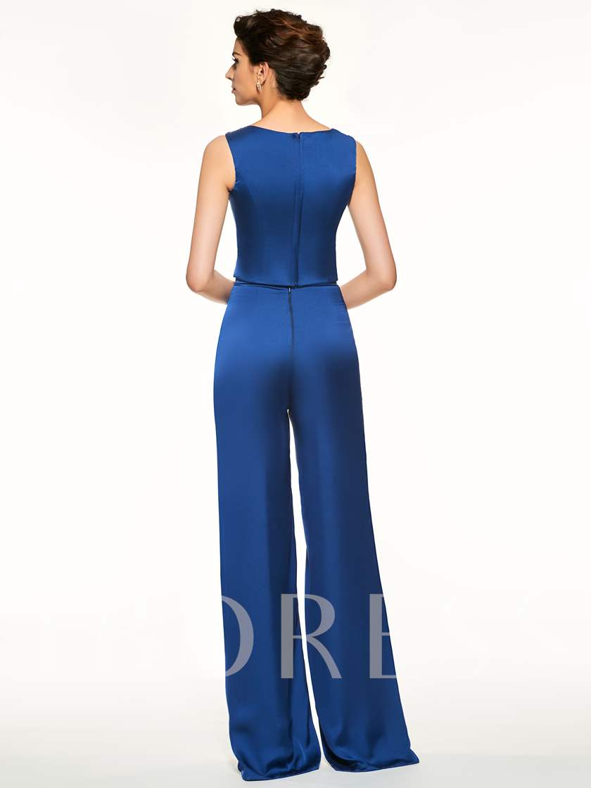 Beaded Straps 3 Pieces Mother of the Bride Pantsuits