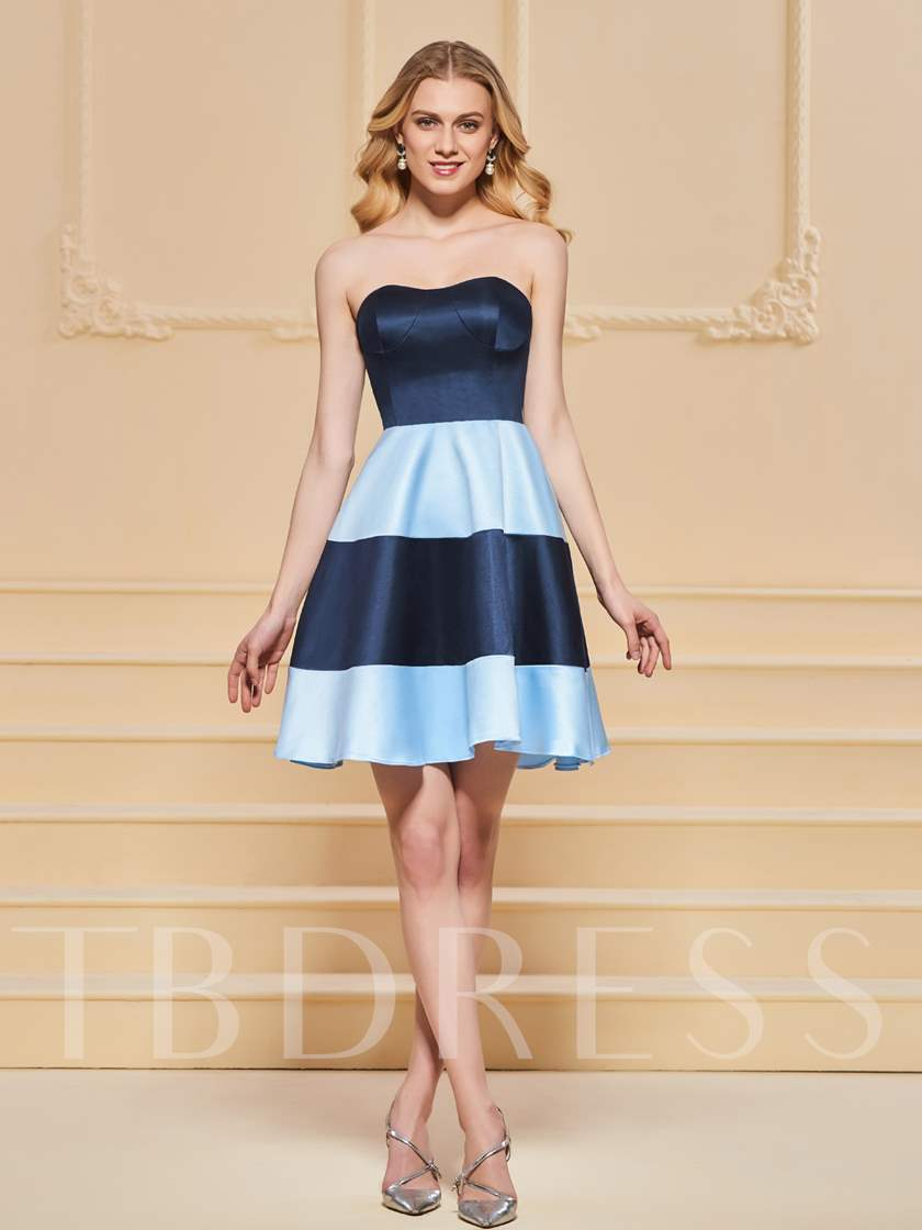 A-Line Sweetheart Multi Color Homecoming Dress