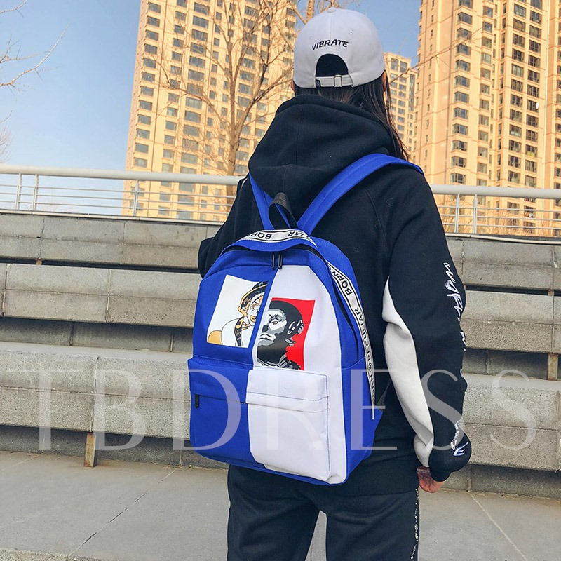 Personality Pattern Canvas Backpack