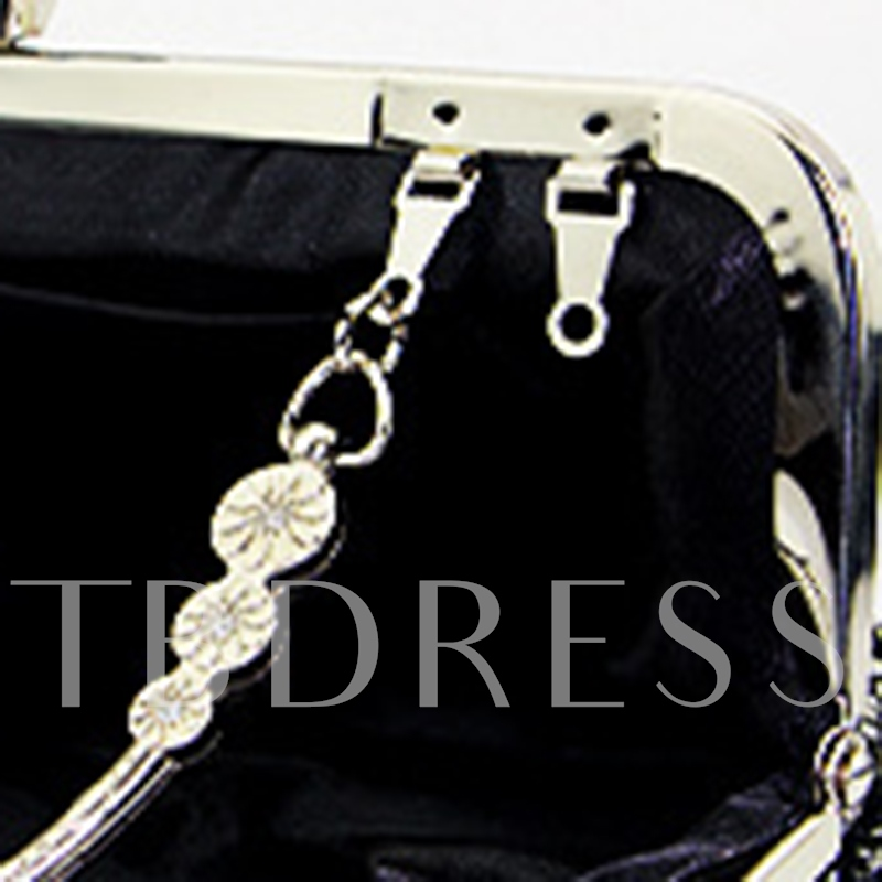 Simple Rhinestone Decoration Women Clutch
