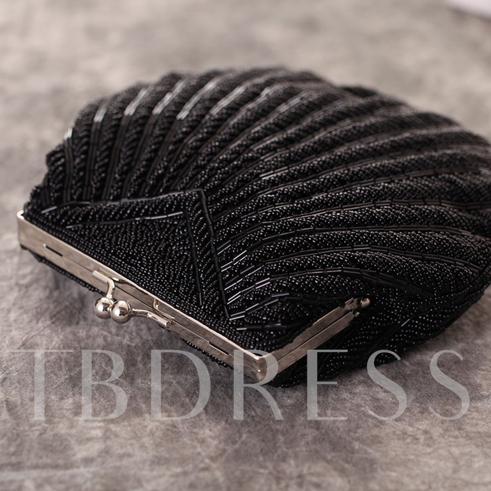 Shell Shape Beading Decoration Women Clutch