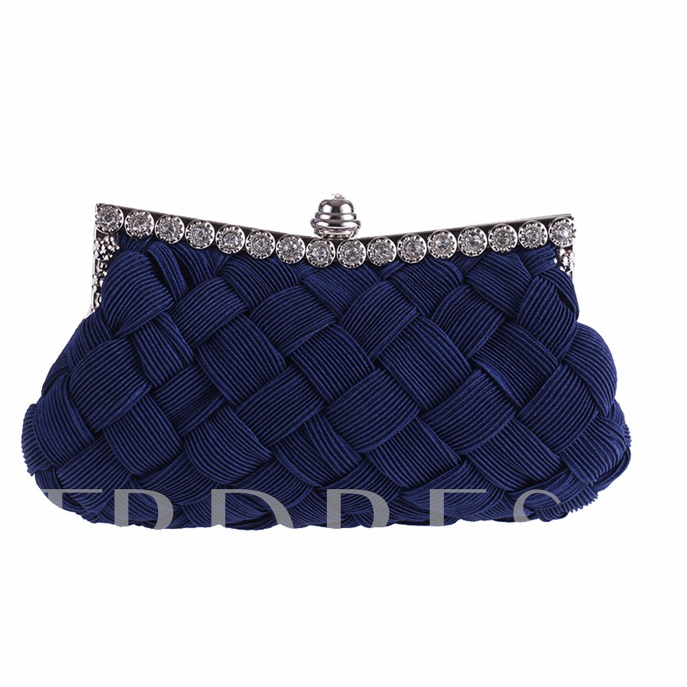 Casual Knitted Design Solid Color Women Clutch