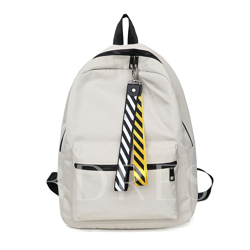 Casual Plain Nylon Backpack