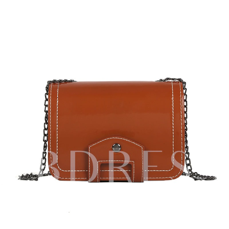 Trendy Solid Colo Mini Cross Body Bag