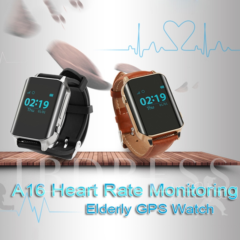 Waterproof Big Screen Smart Watch with GPS/SOS/Heart Rate Monitor for Elderly