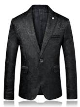 Notched Collar Plain Men's Dress Blazer