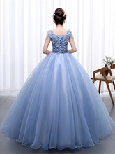 Appliques Lace Sweetheart Flowers Quinceanera Dress
