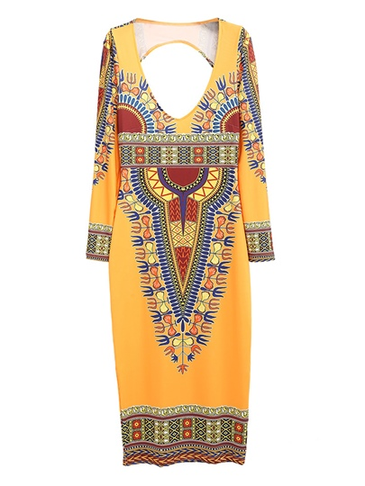 African Tradition Tribe Printing Dashiki Women's Day Dress