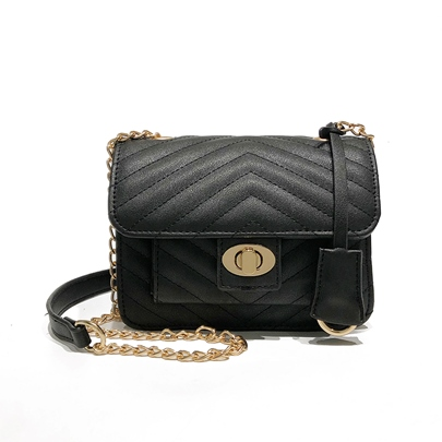 Casual Latch Decoration Mini PU Crossbody Bag