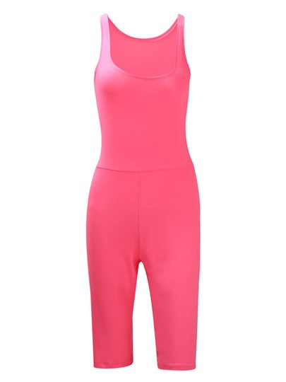 Plain Sporty Skinny Women's Romper