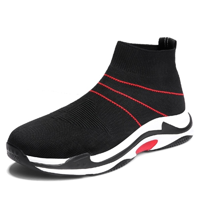 Knit Mesh High Top Athletic Shoes for Men