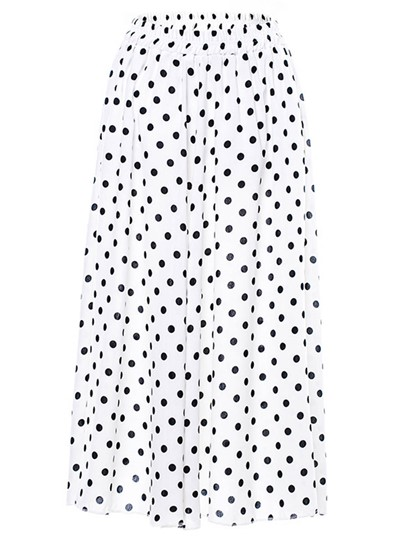 Polka Dot High Waist A-Line Women's Chiffon Skirt