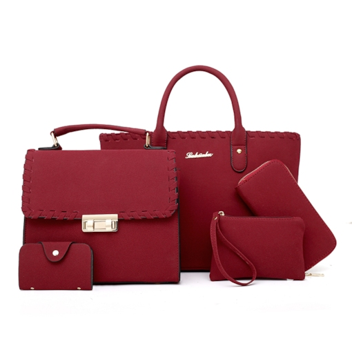 Casual Plain PU Women Bag Set ( 5 Bags Set )