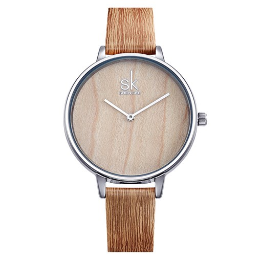 Wood Grain Analogue Display Watches